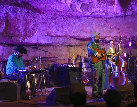 MCMINNVILLE, TN - SEPTEMBER 29:  Singer/Songwriter Joshua Hedley performs during Tennessee Tourism & Third Man Records 333 Feet Underground at Cumberland Caverns on September 29, 2017 in McMinnville, Tennessee.  (Photo by Rick Diamond/Getty Images for Tennessee Tourism)