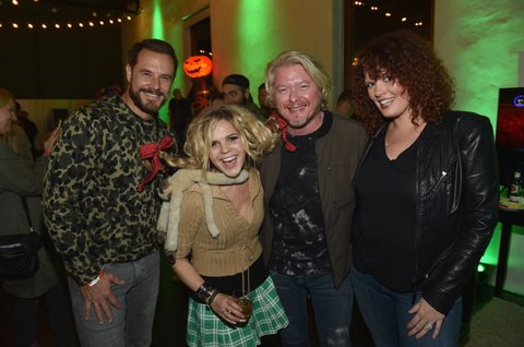 NASHVILLE, TN - OCTOBER 27: Singer-songwriters Jimi Westbrook, Natalie Stovall, Philip Sweet and Hannah Blackwell attend the Xbox Halloween Gaming Event hosted by Brad Paisley and Kimberly Williams-Paisley at Ruby on October 27, 2017 in Nashville, Tennessee.  (Photo by John Shearer/Getty Images for Xbox)
