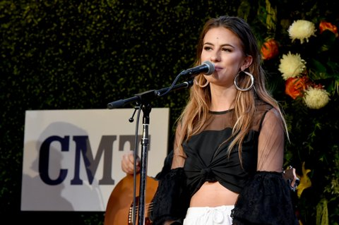 NASHVILLE, TN - NOVEMBER 07:  Singer-songwriter Kassi Ashton performs onstage during the 2017 CMT Next Women Of Country Celebration at City Winery Nashville on November 7, 2017 in Nashville, Tennessee.  (Photo by Rick Diamond/Getty Images for CMT)