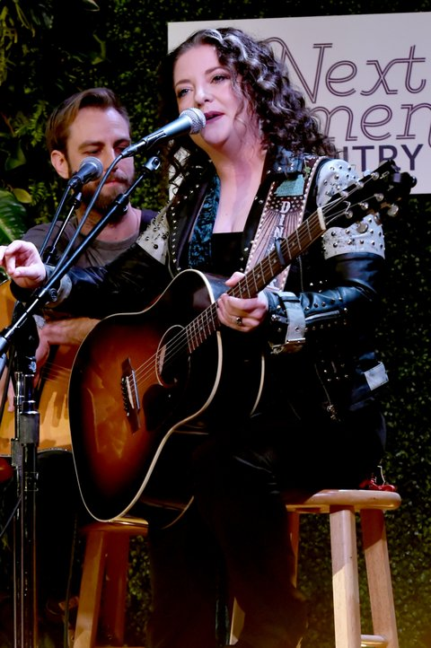NASHVILLE, TN - NOVEMBER 07:  Singer-songwriter Ashley McBryde performs onstage during the 2017 CMT Next Women Of Country Celebration at City Winery Nashville on November 7, 2017 in Nashville, Tennessee.  (Photo by Rick Diamond/Getty Images for CMT)