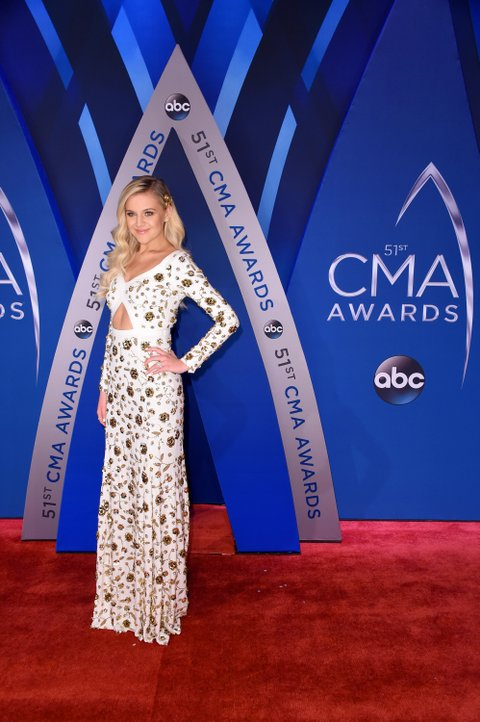 NASHVILLE, TN - NOVEMBER 08:  Singer-songwriter Kelsea Ballerini attends the 51st annual CMA Awards at the Bridgestone Arena on November 8, 2017 in Nashville, Tennessee.  (Photo by Michael Loccisano/Getty Images)