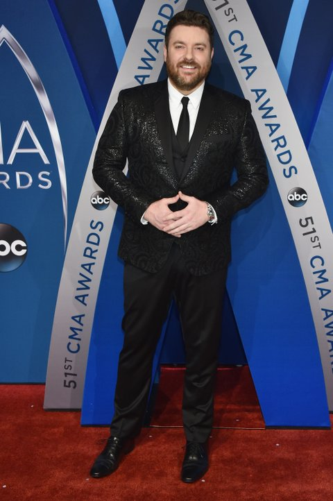 NASHVILLE, TN - NOVEMBER 08:  Singer-songwriter Chris Young attends the 51st annual CMA Awards at the Bridgestone Arena on November 8, 2017 in Nashville, Tennessee.  (Photo by John Shearer/WireImage)