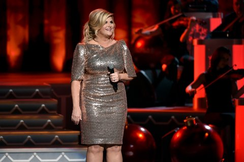 NASHVILLE, TN - NOVEMBER 14:  Trisha Yearwood performs onstage for CMA 2017 Country Christmas at The Grand Ole Opry on November 14, 2017 in Nashville, Tennessee.  (Photo by John Shearer/Getty Images,)