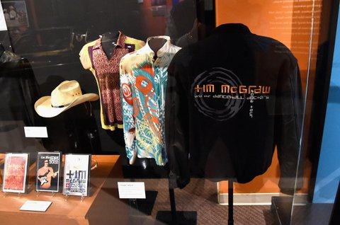 NASHVILLE, TN - NOVEMBER 15:  A view of the Country Music Hall of Fame and Museum's debut of the Tim McGraw and Faith Hill Exhibition on November 15, 2017 in Nashville, Tennessee.  (Photo by Rick Diamond/Getty Images for Country Music Hall of Fame and Museum)