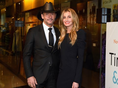 NASHVILLE, TN - NOVEMBER 15:  Tim McGraw and Faith Hill attend the Country Music Hall of Fame and Museum's debut of the Tim McGraw and Faith Hill Exhibition on November 15, 2017 in Nashville, Tennessee.  (Photo by Rick Diamond/Getty Images for Country Music Hall of Fame and Museum)