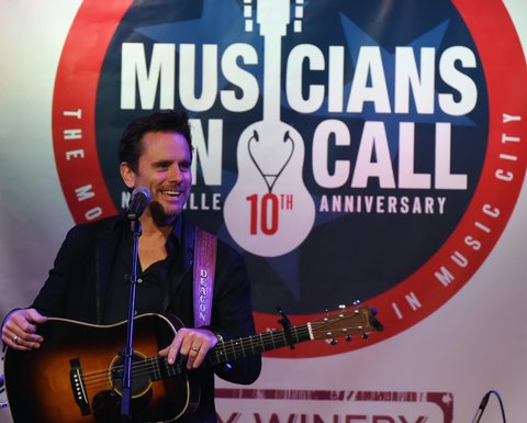 NASHVILLE, TN - OCTOBER 26:  Charles Esten performs during Musicians On Call 10th Anniversary In Nashville With Lady Antebellum at City Winery Nashville on October 26, 2017 in Nashville, Tennessee.  (Photo by Rick Diamond/Getty Images for Musicians On Call)