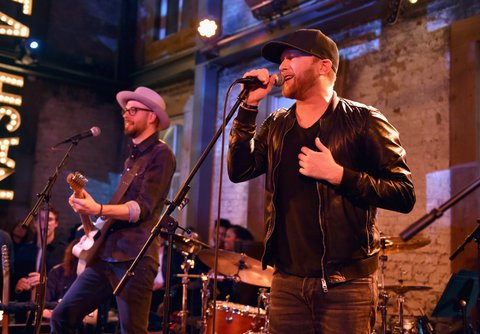 NASHVILLE, TN - JANUARY 14:  Cole Swindell performs onstage during the Nashville Opening of Dierks Bentley's Whiskey Row on January 14, 2018 in Nashville, Tennesse  (Photo by John Shearer/Getty Images for Dierks Bentley's Whiskey Row Nashville)